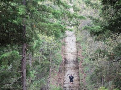Escalinatas del Cerro del Estribo en Pátzcuaro, Michoacán