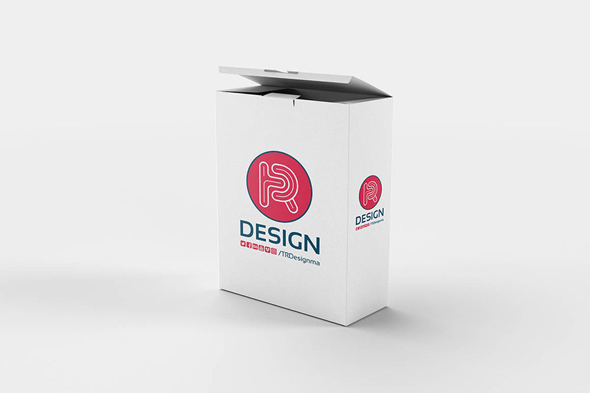 Paper Box Mockup Template