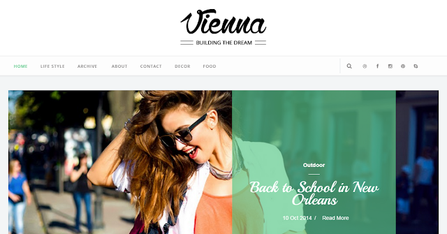 Vienna Blogger Template Free Download