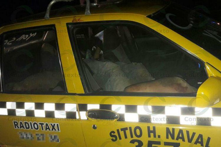 Hallan siete decapitados dentro de taxi en Manzanillo; una era mujer