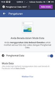 Pengaturan penghemat data facebook