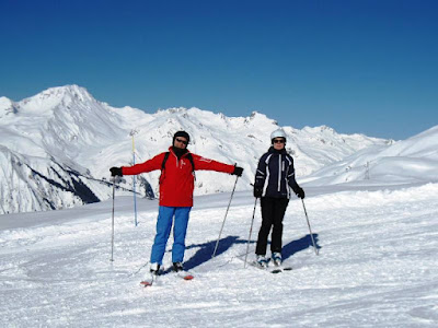 Two skiers in the sunshine