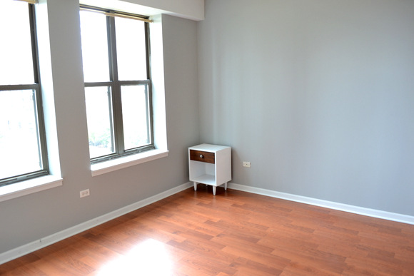 Master Bedroom - I love the gray color of the walls we chose, and the flooring.