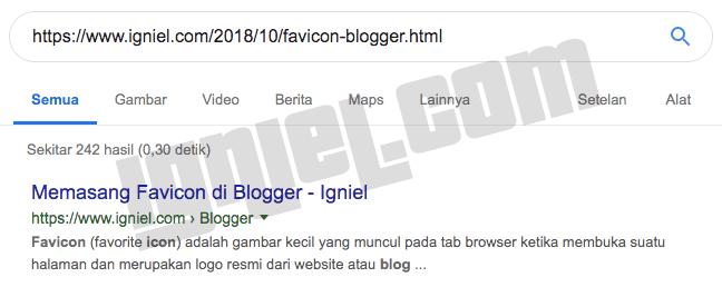 Cek Halaman Blog yang Terindex Google