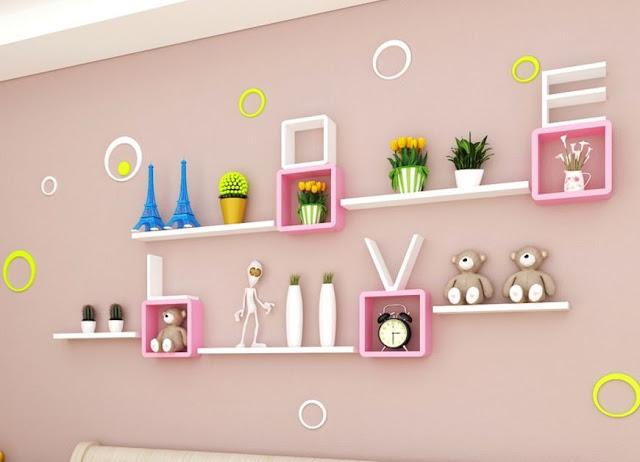 MFC sắc trắng hồng thích hợp với không gian phòng của các bạn gái