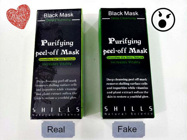 Shills Black Mask - Fake or Real??!!??? | LuvingAsia - Beauty, Smart