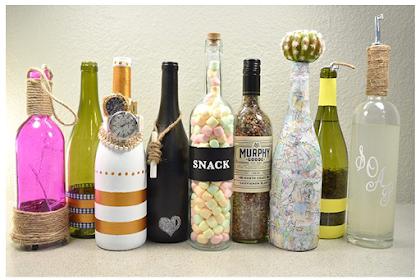 10 Hiasan Kreatif Dari Botol Anggur