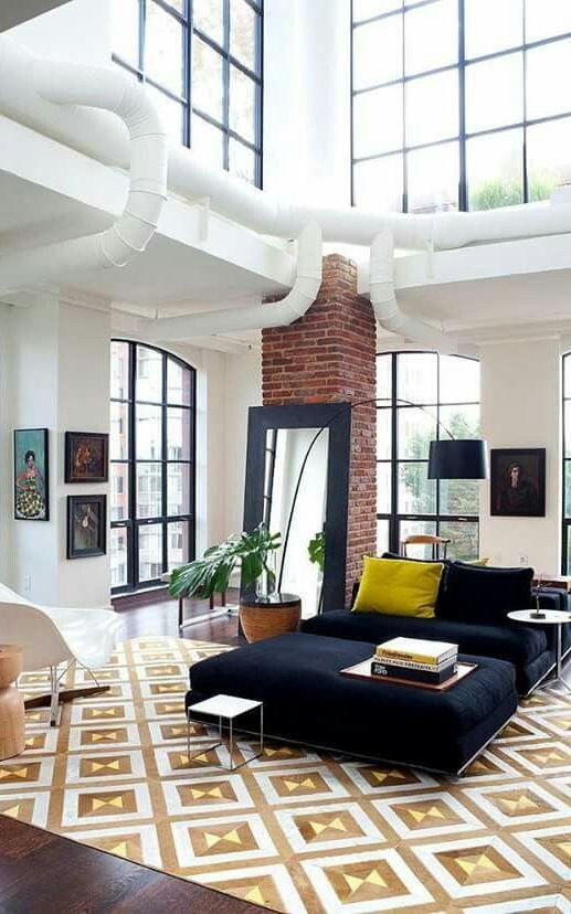 Warm eclectic penthouse condo situated