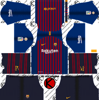 F.C. Barcelona 2018/19 Nike Kit - Dream League Soccer Kits