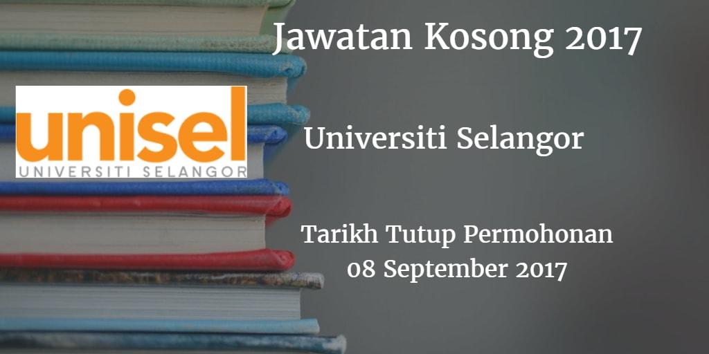 Jawatan Kosong UNISEL 08 September 2017