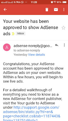 Iklan Adsense Di Blog sensasi2020 dah muncul