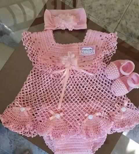 Crochet Baby Dress Pattern Free Yarn Crochet
