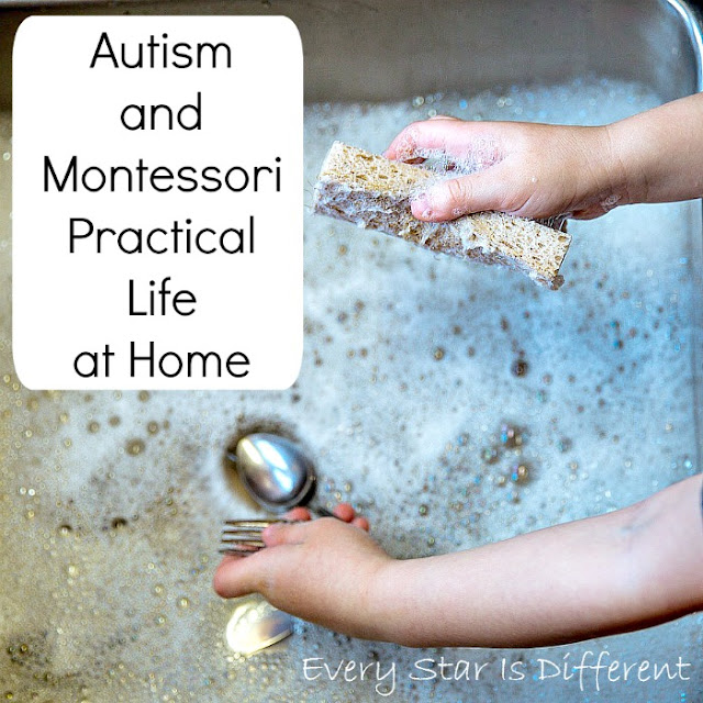 How to help a child with autism be successful with Montessori Practical Life tasks at home.