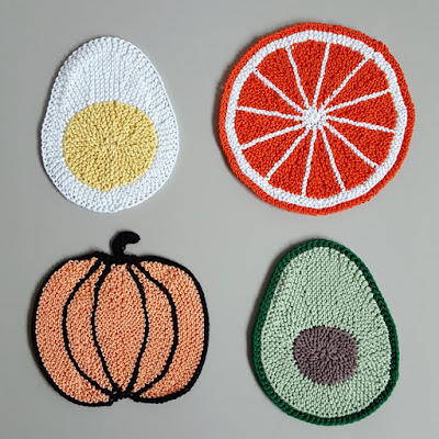 Food-themed potholders - Knitting and so on