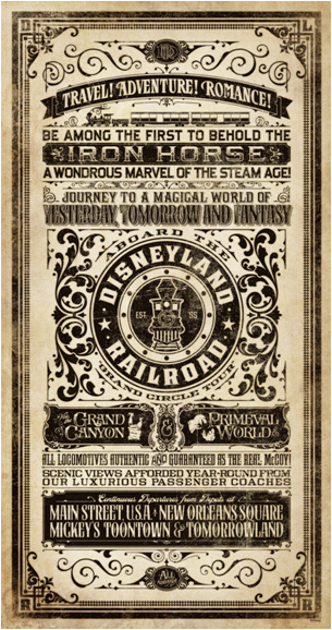 Jeremy Fulton Mechanical Kingdom Disneyland Railroad Walt Disney World Victorian Steampunk poster print art artist