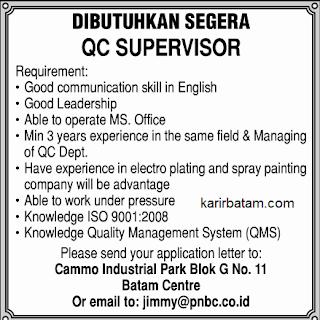 Lowongan Kerja PT. PNBC Indonesia