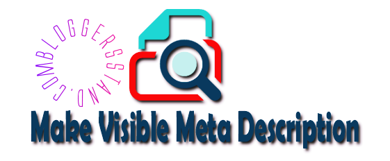 Make visible your meta search description of blogger blog post in template