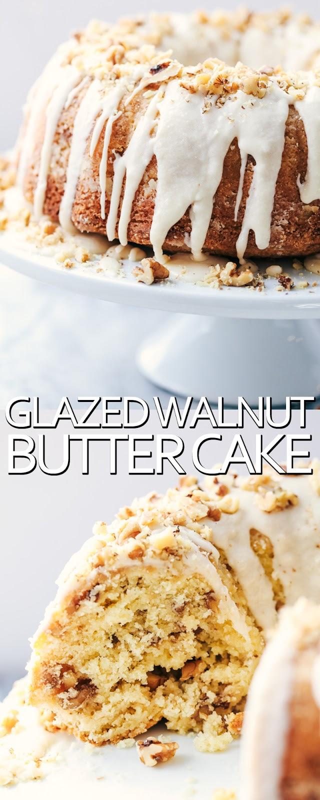 GLAZED WALNUT BUTTER CAKE