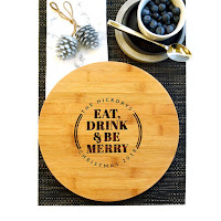 Personalised Cheese Board Christmas Gift