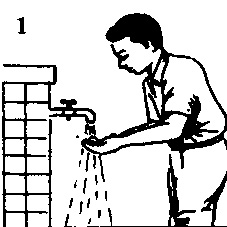 cara-wudhu-membasuh-telapak-tangan