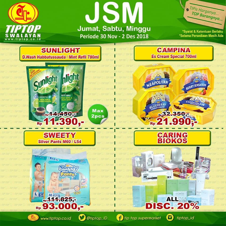 TipTOp - Promo Katalog JSM Periode 30 - 02 Des 2018