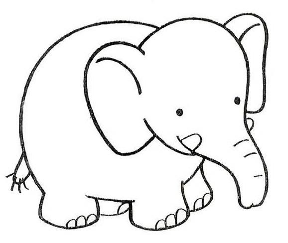 Elefantes Tiernos Para Dibujar Faciles Manualidades