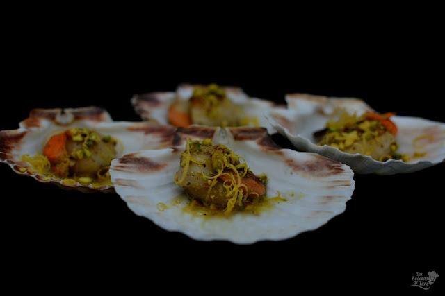 Vieiras a la plancha con aceite de pistachos tererecetas 05