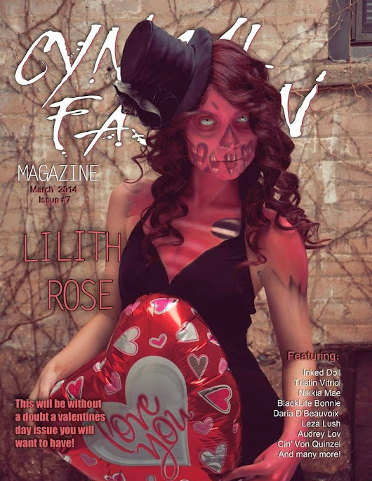 Cover model for Cynical Fashion Magazine Valentines Issue