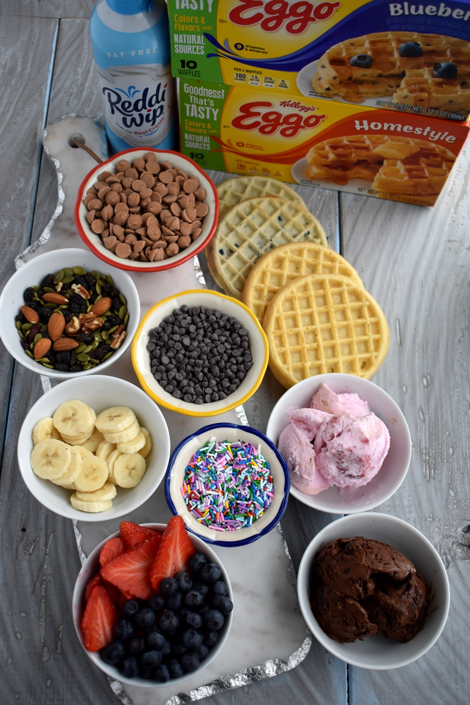 Make your own dessert waffle