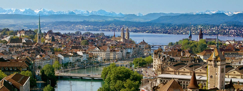 Panoramica de Zurich, Suiza