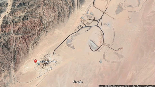 Map Attribute: Husab Uranium Mine / Source: (c) 2018 DigitalGlobe via Google Earth / Note: The map is not the part of the original publication.