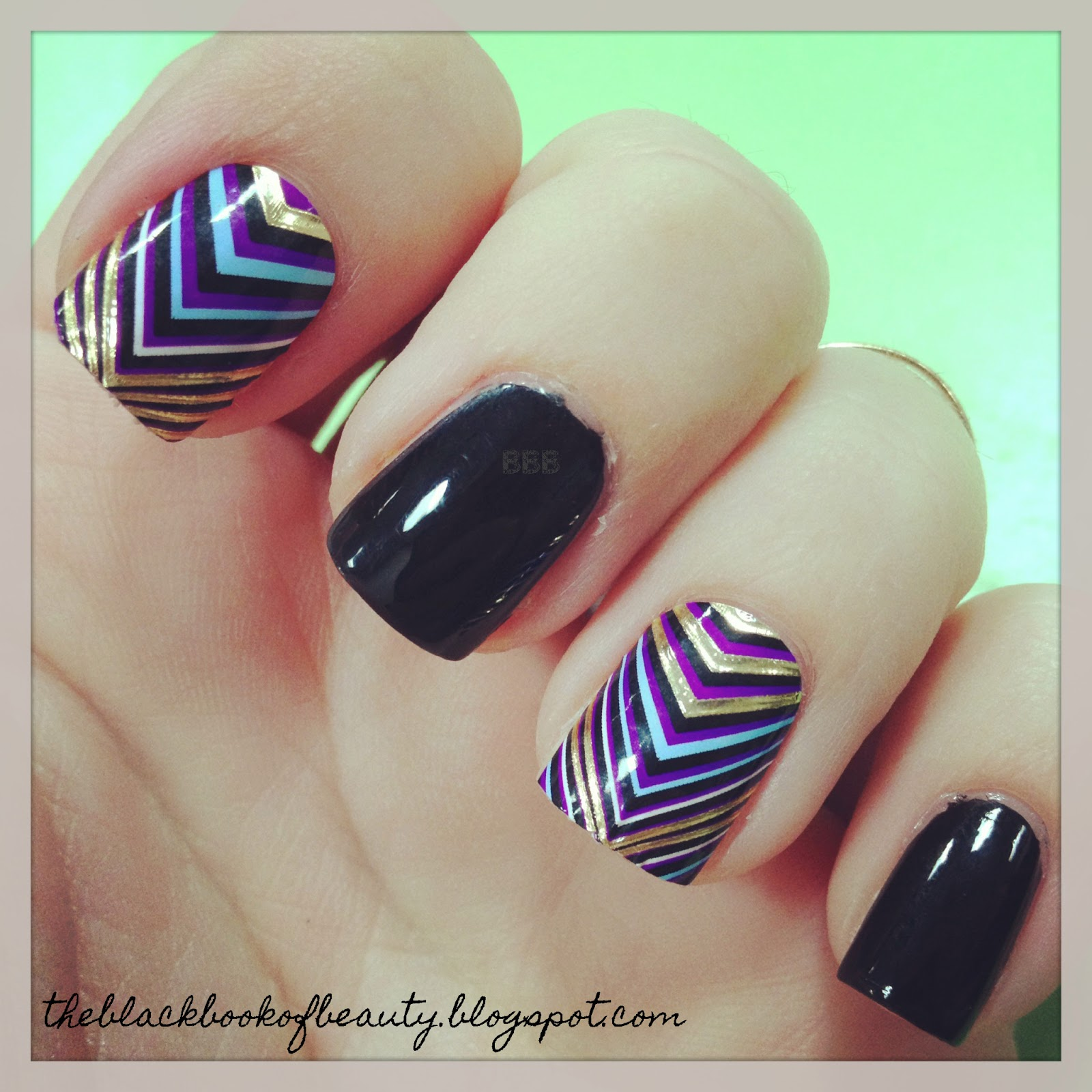 Black Book of Beauty: Design FX Nail Stickers- Gilded Groove