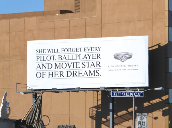 Diamond Forevermark She will forget billboard