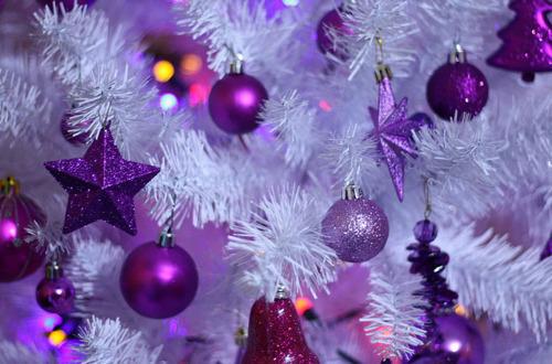 Christmas Found: Purple & White Christmas Tree