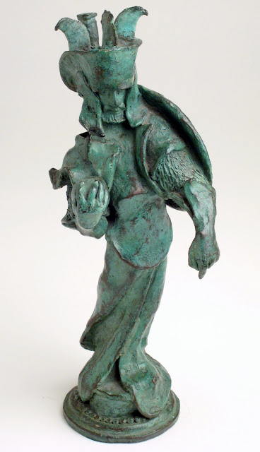 Lord of the Rings White King Chess Piece. Bronze. Artist: William Girard