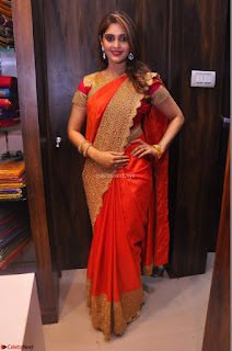 Surabhi looks stunning in Saree at Nakshatra Fashion Store Launch at Suchitra X Road 10.JPG