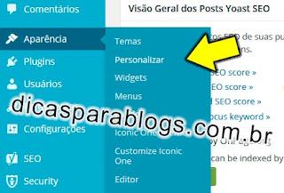 personalizar aparencia do wordpress