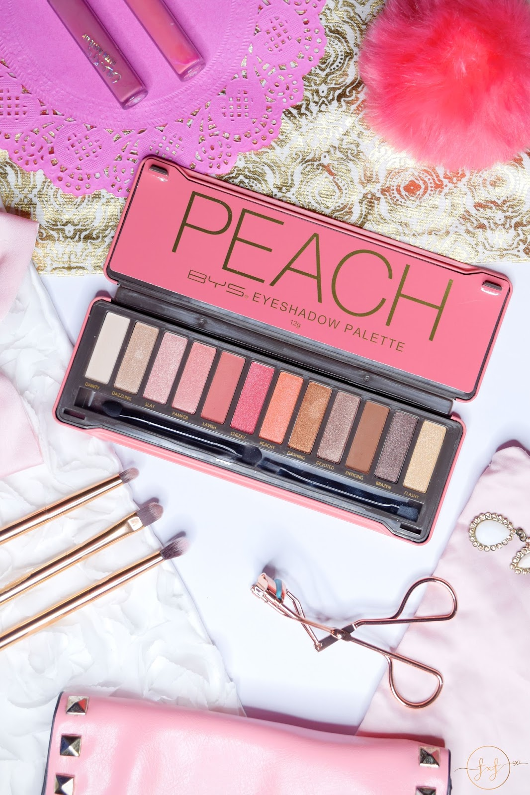 BYS Peach Eyeshadow Palette | Review & Swatches
