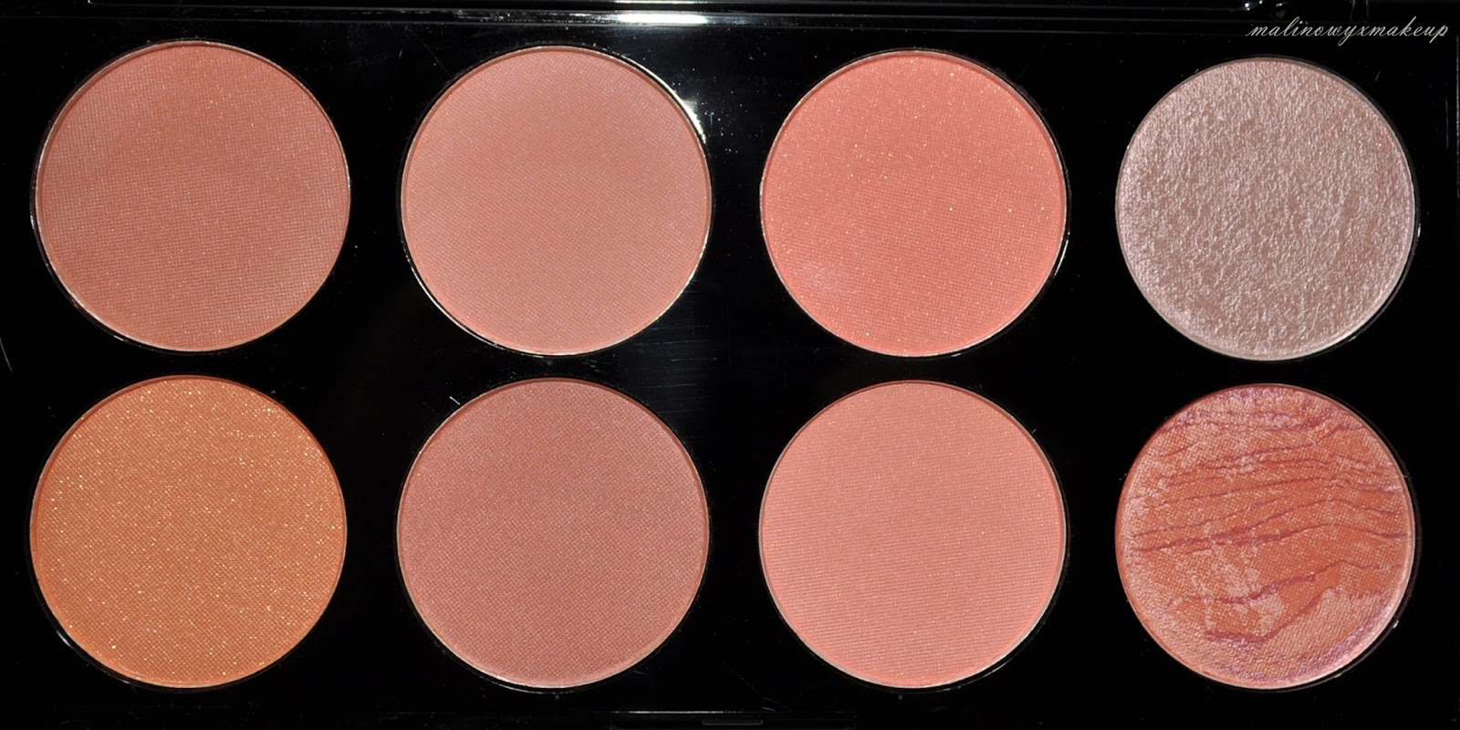 blush palette paleta róży hot spice makeup revolution mur