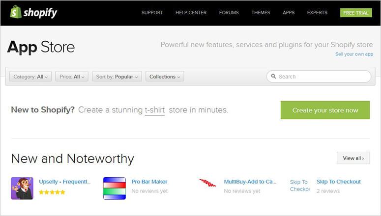 Toko pembayaran Shopify