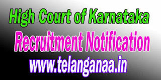 High Court of Karnataka Recruitment Notification 2016