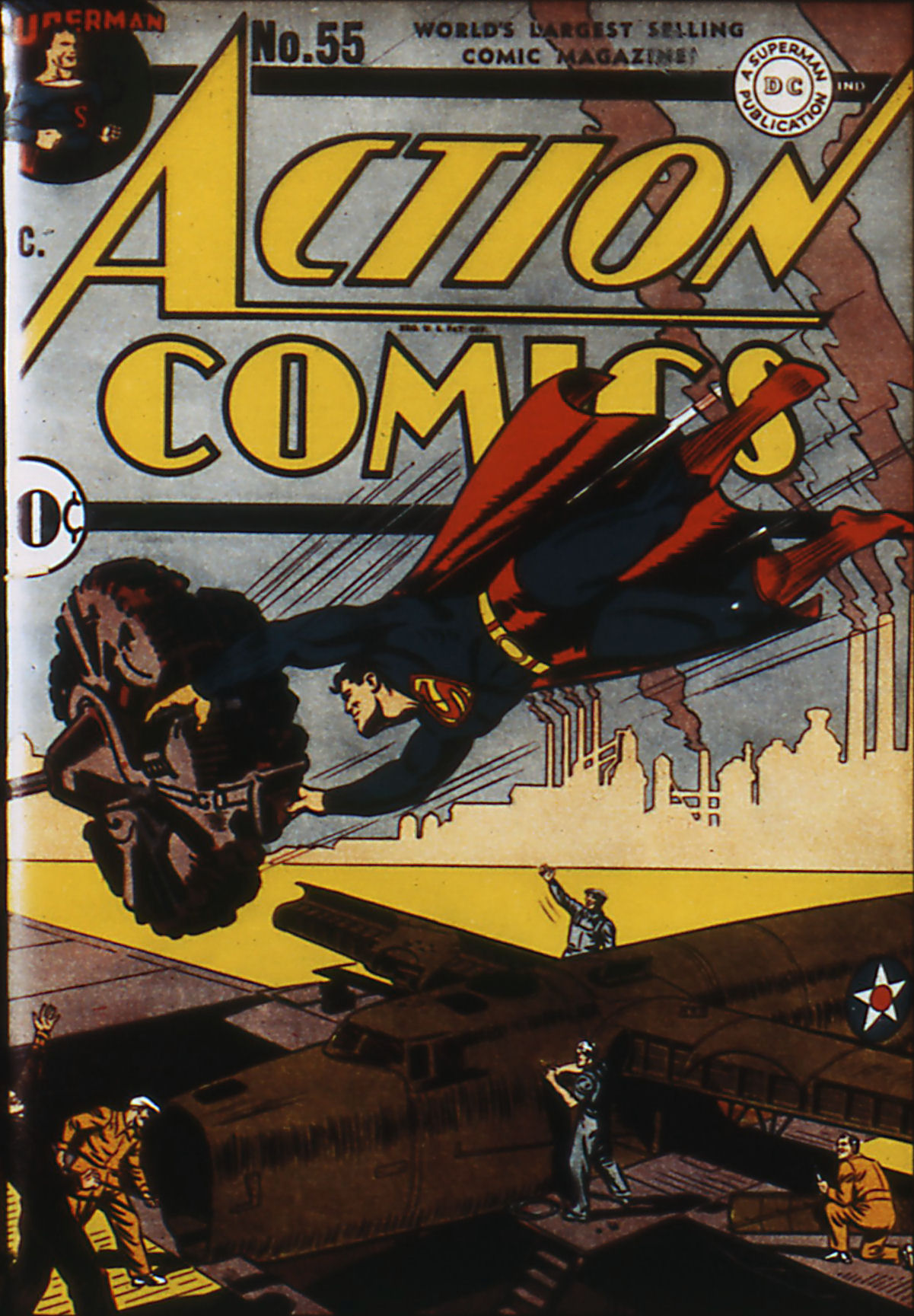 Read online Action Comics (1938) comic -  Issue #55 - 1