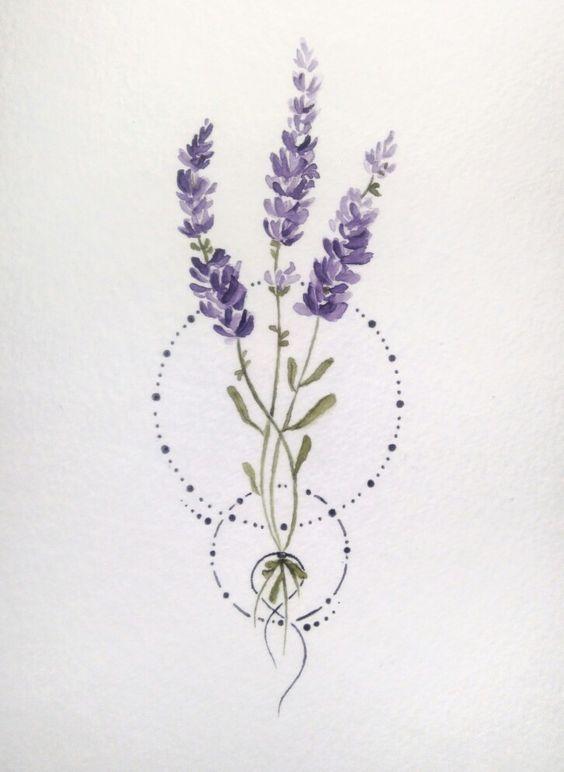 Top 10 Lavender Tattoos Ideas 2019