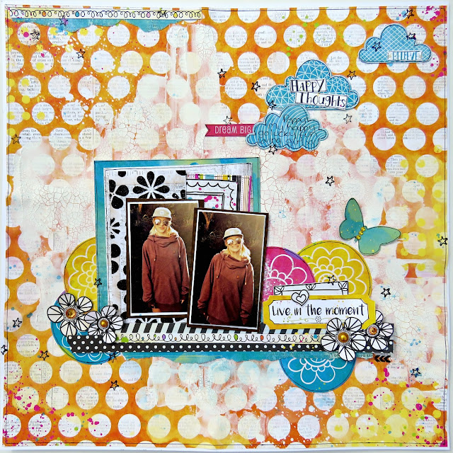 Live in the moment scrapbook page tracee provis bo bunny believe 01