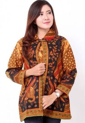 model baju batik wanita lengan panjang anak muda