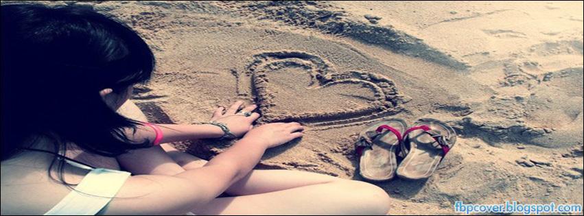 Girl  sad  beach  hear...