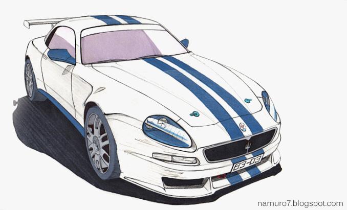 Draw] 2003 Maserati Trofeo. Racing Car | Namuro7 blog