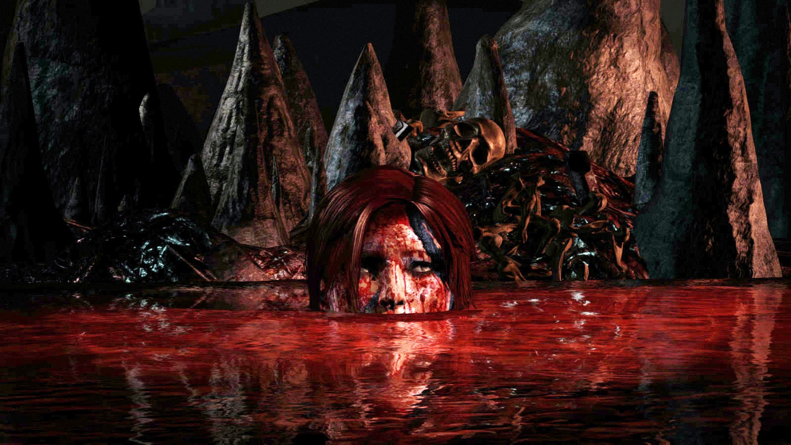 Yes This Is A Lake Of Blood And Rotting Human Flesh Alas The Game Does Not Contain Soap