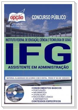 Apostila da IFG Assistente em administração 2018
