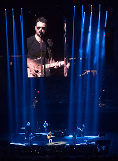 eric church in blue light towers in phoenix, arizona